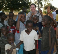 With some of the pupils from one of our rural primary schools in Zambia