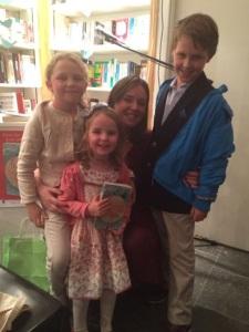 With three of my gorgeous niecephews - my biggest fans :-)